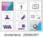 business presentation brochures ... | Shutterstock .eps vector #250381507
