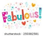 fabulous decorative lettering...   Shutterstock .eps vector #250382581