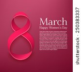 march 8 greeting card.... | Shutterstock .eps vector #250383337