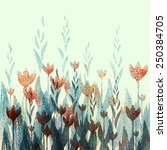 tulips pattern | Shutterstock . vector #250384705