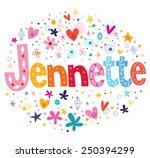 jennette girls name decorative... | Shutterstock .eps vector #250394299