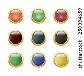 set of glossy round buttons | Shutterstock .eps vector #250394659