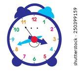 alarm clock | Shutterstock .eps vector #250399159