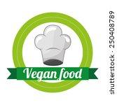 vegan menu design  vector... | Shutterstock .eps vector #250408789