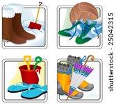 four seasons | Shutterstock .eps vector #25042315