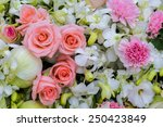 bouquet of orchid  rose and... | Shutterstock . vector #250423849