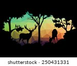 animal of wildlife  deer  | Shutterstock .eps vector #250431331