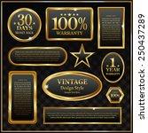 vintage golden frame banner | Shutterstock .eps vector #250437289