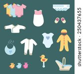 baby clothes | Shutterstock .eps vector #250437655