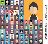 collection of avatars14    65... | Shutterstock .eps vector #250438615