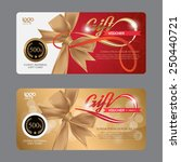 voucher template with premium... | Shutterstock .eps vector #250440721