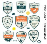 summer design badges | Shutterstock .eps vector #250446061