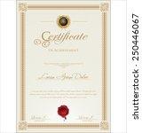 certificate template | Shutterstock .eps vector #250446067