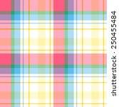 seamless madras plaid pattern | Shutterstock .eps vector #250455484
