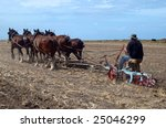 An Oldtimer Ploughing The Field ...
