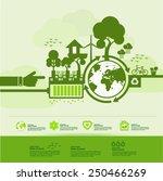 ecology green world creative... | Shutterstock .eps vector #250466269