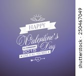 the poster for valentine's day | Shutterstock .eps vector #250467049