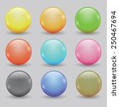 colorful illustration  with set ... | Shutterstock . vector #250467694