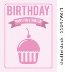 happy birthday design  vector... | Shutterstock .eps vector #250479871