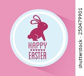 happy easter design  vector... | Shutterstock .eps vector #250479901