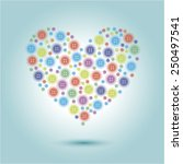 illustration of heart | Shutterstock . vector #250497541