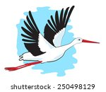 stork. flying stork. vector... | Shutterstock .eps vector #250498129