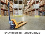manual forklift pallet stacker... | Shutterstock . vector #250505029