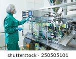 pharmaceutical factory woman... | Shutterstock . vector #250505101