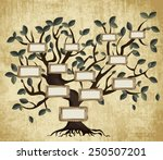 illustration of family tree on... | Shutterstock .eps vector #250507201