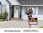 young female real estate woman