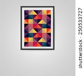 colorful triangles poster in a... | Shutterstock .eps vector #250533727