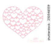pink heart shape with white... | Shutterstock .eps vector #250548559