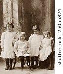 Four Children Vintage Photograph