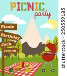 picnic party   Shutterstock .eps vector #250559185