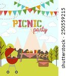 picnic party   Shutterstock .eps vector #250559215