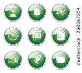 time duration green vector... | Shutterstock .eps vector #250567354