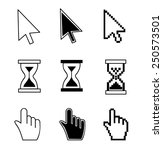 cursor set   mouse hand arrow... | Shutterstock .eps vector #250573501