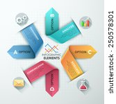 modern infographics options... | Shutterstock .eps vector #250578301