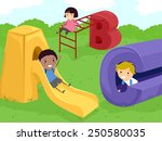 stickman illustration of kids... | Shutterstock .eps vector #250580035
