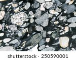 Pebbles rock background - stock photo