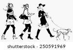 women walking in a street  ...   Shutterstock .eps vector #250591969
