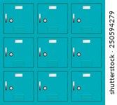 deposit lockers | Shutterstock .eps vector #250594279