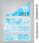 2016 calendar with business...