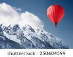 colorful hot air balloon flying ... | Shutterstock . vector #250604599