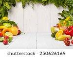 frame with fresh organic... | Shutterstock . vector #250626169