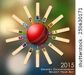 illustration of cricket bat of... | Shutterstock .eps vector #250630171
