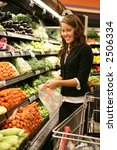 a pretty woman shopping for... | Shutterstock . vector #2506334
