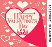 happy valentines day card with... | Shutterstock .eps vector #250635301