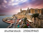 Valletta Skyline In The Cloudy...