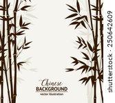 bamboo forest over fog sky on... | Shutterstock .eps vector #250642609